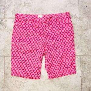 Laundry by Shelli Segal pink bermuda shorts